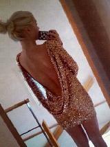 lovelovelovelovelove. backless + sequined + long-sleeved short dress = 3 of my most favorite things