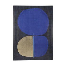 Blue Foil Print