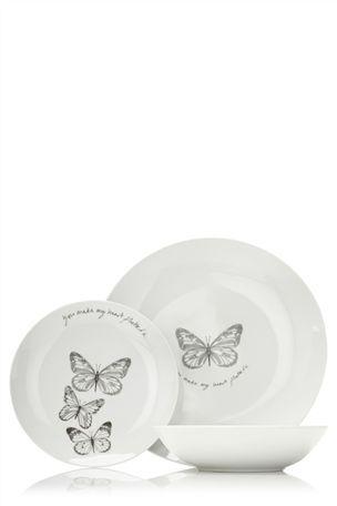 Buy 12 piece Flutterby Dinner Set from the Next UK online shop