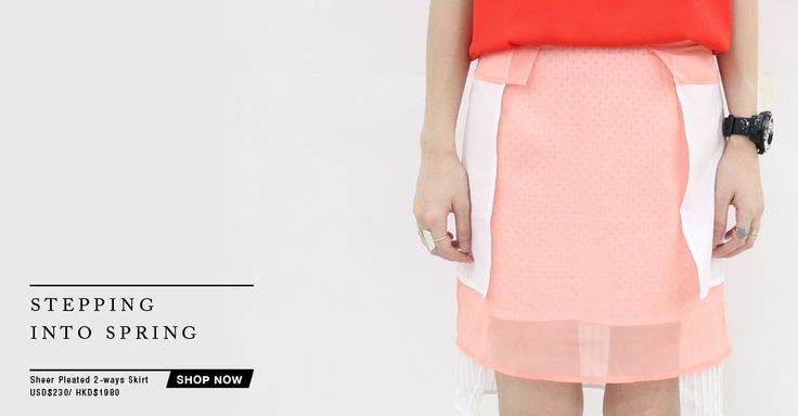 Pastel / Sheer / Lace / Layers / Layering / Skirt / Tone on Tone  www.thelayers.org  #thelayers #fashion #layering #stylish #pfw #14ss #ss14 #2014 #new #skirt #orange #pink #spring