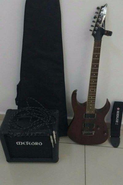 Guitarra Ibanez + Amplificador Meteoro - Diversão-Instrumentos Musicais, São Paulo-São Paulo, Guarulhos, Grande ABCD, Osasco e Região, R$1.350,00 - https://trocazap.com.br/instrumentos-musicais/guitarra-ibanez-amplificador-meteoro.html