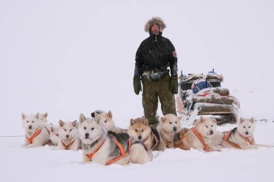 Morten Hilmer with his Sirius Dogs