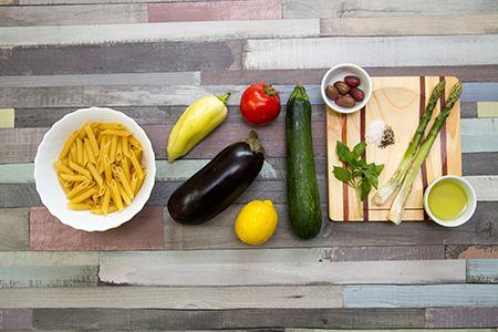 Penne vegyes grillzöldségekkel