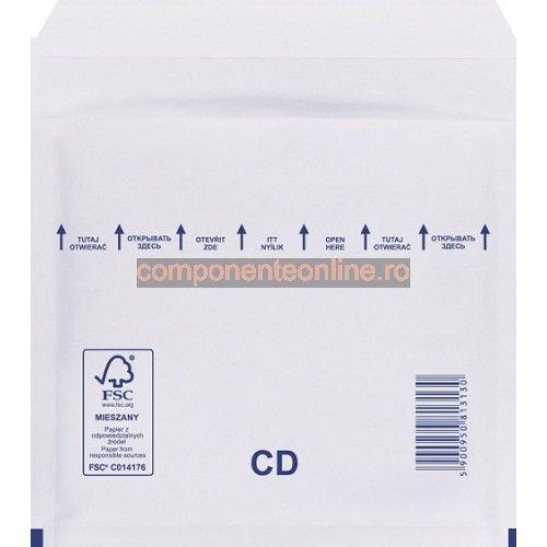 Plic antisoc CD, Fifty Bubble, alb, 200X175 mm - 302501