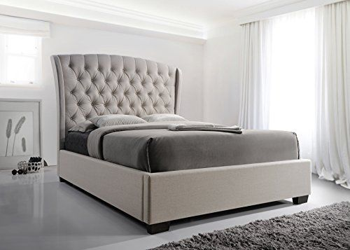 Furniture World Cezanne Upholstered Bed Button Tufted With