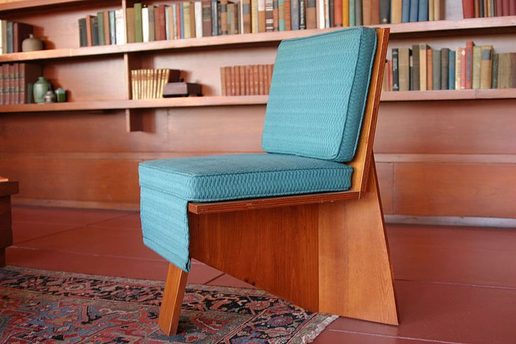 A Chair Within A Frank Lloyd Wright Designed Interior