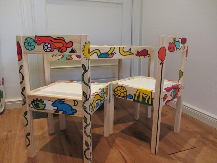Ikea setje.  Bewerkt door Alphons Arts
