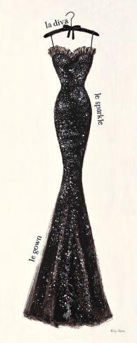 Couture Noir Original IV by Emily Adams - inspiration from blossomgraphicdesign.com #boutiquedesign
