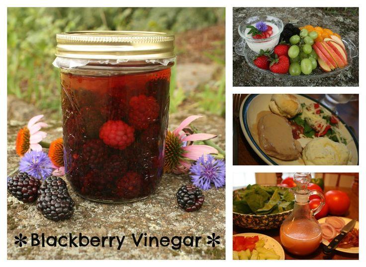 Blackberry Vinegar \ Berry Vinaigrette | The Nerdy Farm Wife - make other berry vinegars with the same recipe