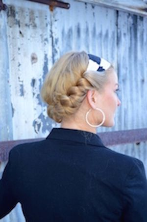 Savvy Curls looks gorgeous as a stylish updo while it's curling your hair at the same time.