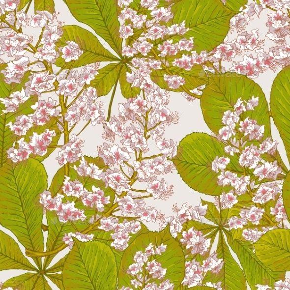 Blossom Chestnut Seamless Spring Background