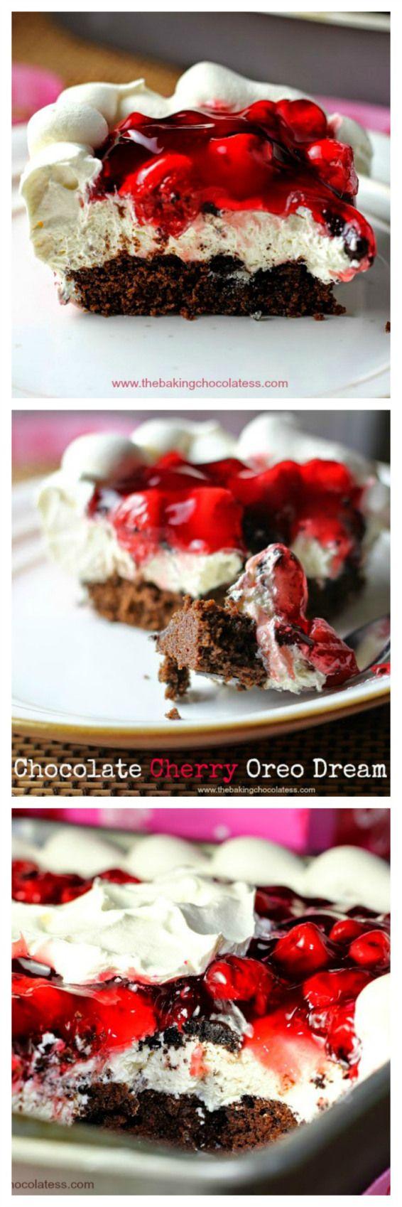 Chocolate Cherry Oreo Dream Dessert – The Baking ChocolaTess