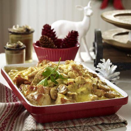Hähnchen-Champignon-Auflauf Rezept | LECKER