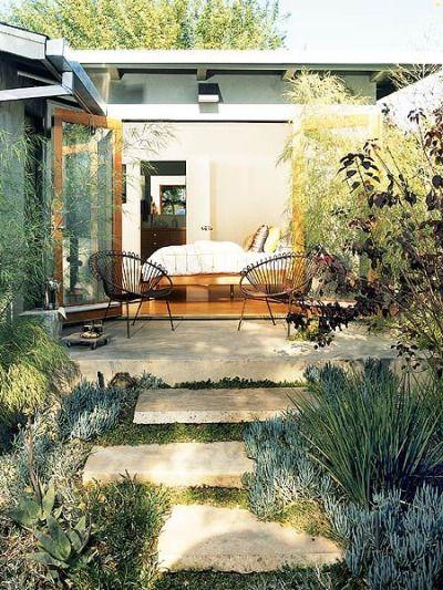possible concrete pads for back yard patio area? melbripley:  Outdoor oasis | via Kristen F Davis Design