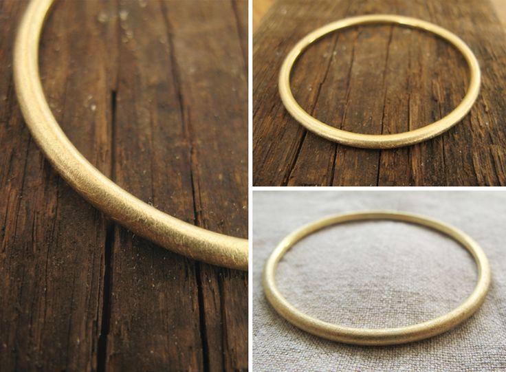 Modern gold bracelet / nowoczesna złota bransoletka, matowe złoto, minimalizm yuvel.pl