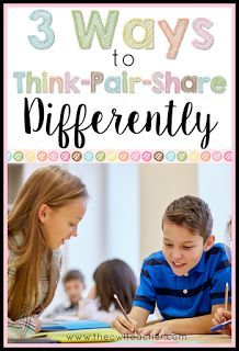 Think-Pair-Share does not have to be the only strategy that you use in your classroom to engage students and assess them!  Check out these 3 strategies to help your students think-pair-share differently!