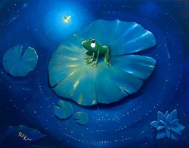 Rob Kaz - Nightlight - original oil on canvas painting