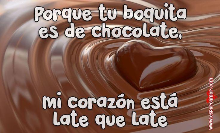 Corazón de Chocolate Con Versos De Amor