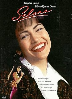 Selena (1997) Jennifer Lopez received a Golden Globe nomination for her portrayal of Selena Quintanilla, the real-life Mexican-American singer who topped the charts in the United States and beyond before she was murdered at age 23. The story, directed by Gregory Nava, reveals Selena's secret marriage to guitarist Chris Perez as well as her conflicts with her overly possessive manager/father.  Jennifer Lopez, Edward James Olmos, Jon Seda....2a