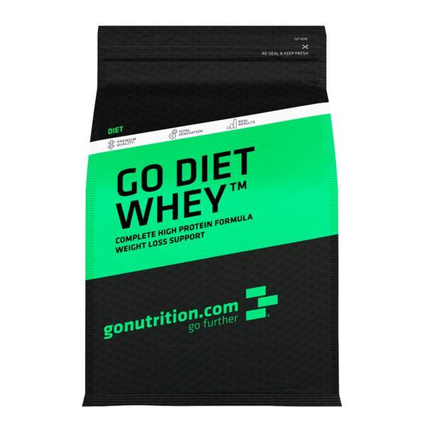 Go Diet Whey™ - GoNutrition - Benefícios Chave - Proteína para dieta com 64% de teor proteico - Ajuda a promover a perda de gordura. - Contém Extracto de Chá Verde e Acetyl L Carnitine.