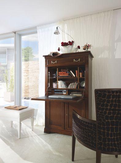 Secretaire VILLA BORGHESE designed by Tiziano Bistaffa #SELVA #furniture #office #secretaire