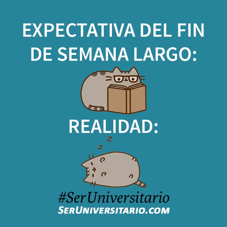 Fin de semana largo: expectativa vs realidad. #SerUniversitario
