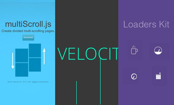 MultiScroll, Responsive Sticky, Velocity, Animated Filter, CSS Spinner