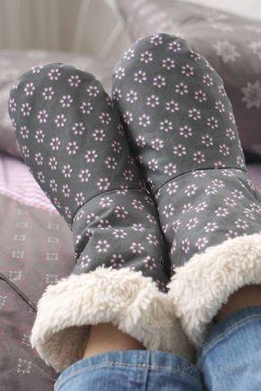 Freebook - kuschlig warme Hausschuhe