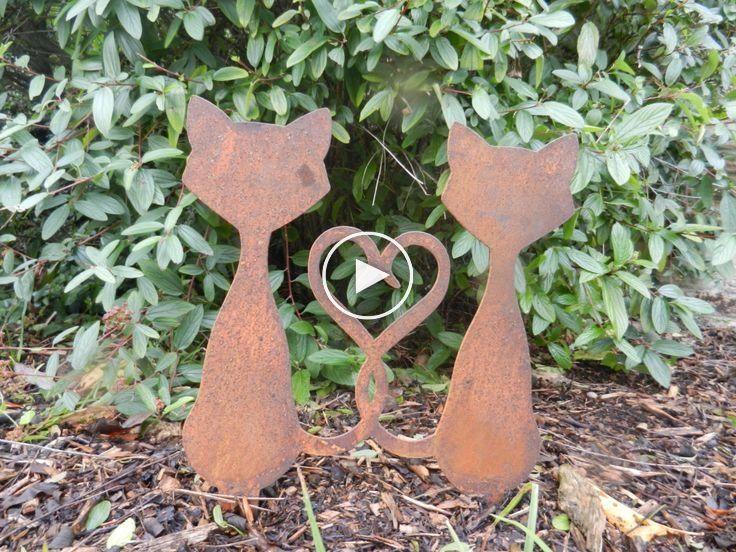 Garten Katzen Metallgarten Skulptur Katzen Geschenk Garten Verzierung Geschenke Fur Katzen Geschenk Garten Skulpturen