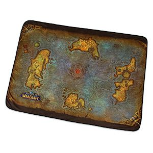 This World of Warcraft Map of Azeroth Fleece Blanket lets you look down upon those realms of myth, magic, and adventure with no computer required.