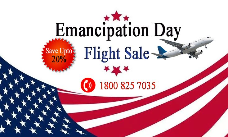 16th April 2018 Emancipation Day in the USA- A public holiday celebrating the abolition of slavery. Get the best deal on your domestic & international flight reservation. Book the deal & save upto 20% on flight. Visit to book your self- www.cheapflyfares.us ☎️ 1800 825 7035 (toll free) #EmancipationDay #flightSale #cheapflight #USAflight #USAairline #domesticair #international #discountedflight #flightreservation #USAtour #flightrip #airfare