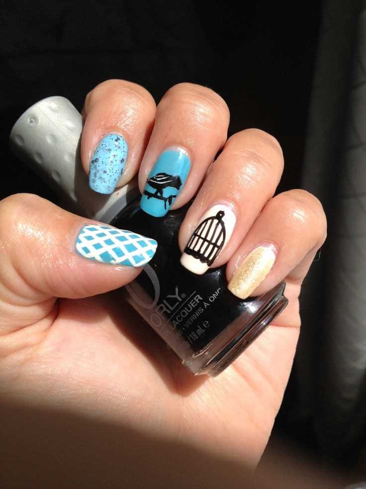 Bird Cage Nail Art Nail Art Pinterest Nail Art Art And Nails