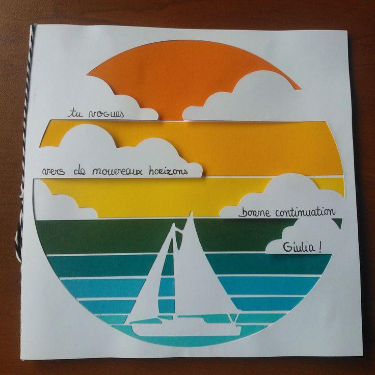 Carte Nouveau Départ Voguer vers de nouveaux horizons - Lovely Carte