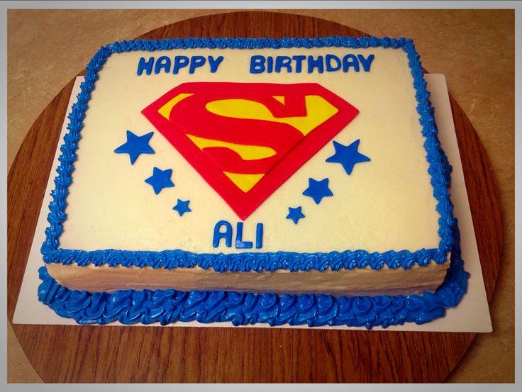 Superman Sheet Cake My cakes!! B&B s Creative Cakery ...