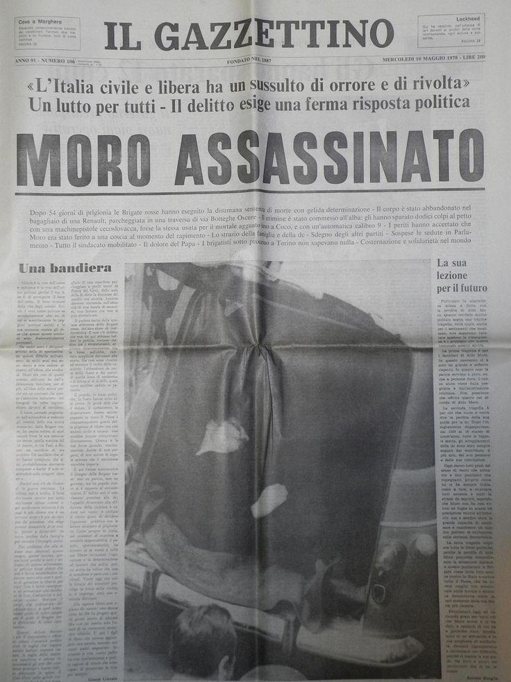 Maggio 1978 - Il sequestro di Aldo Moro si conclude in modo tragico.