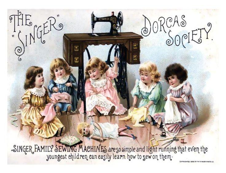 Vintage Ad Singer Sewing MachinesVintage Posters, Sewing Machines, Trade Cards, Singer Sewing, Dorcas Society, Vintage Advertis, Vintage Sewing, Old Sewing Machine, Vintage Ads