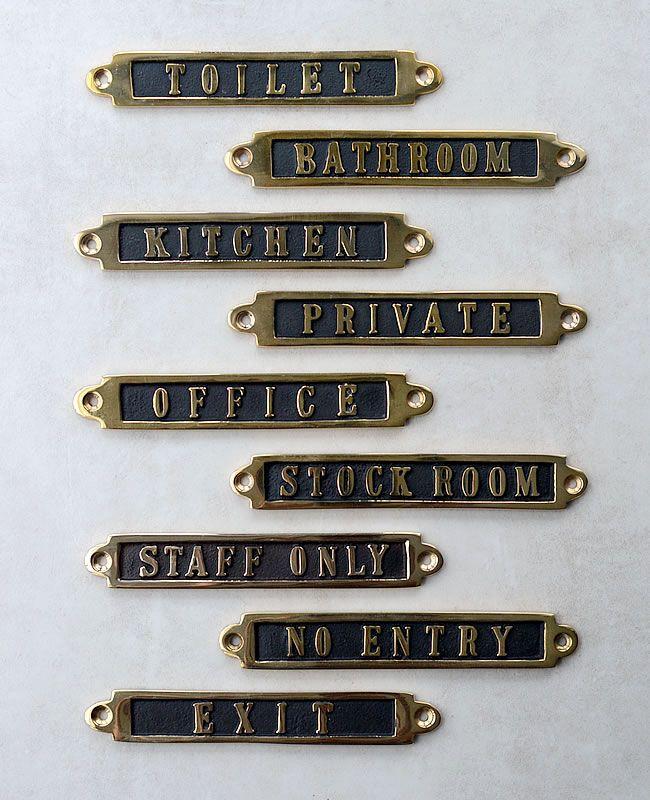 Brass ルームサイン ドアプレート インテリア ナチュラル ドア
