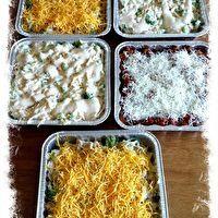 Layered Enchilada Casserole (Freezer Meal) by Kim Thomas