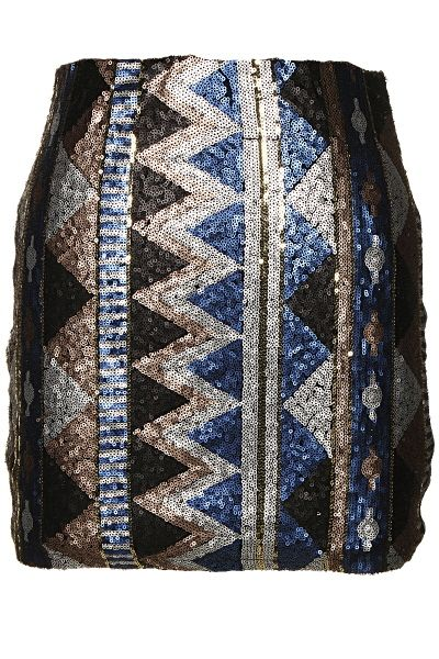 Black & blue aztec sequin skirt sold by The Sister's Boutique. Shop more products from The Sister's Boutique on Storenvy, the home of independent small businesses all over the world.
