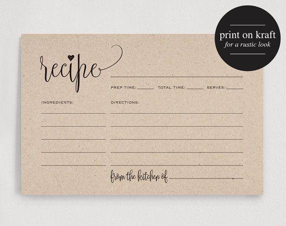 recipe card maker free