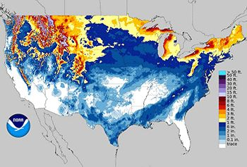U.S. snow map