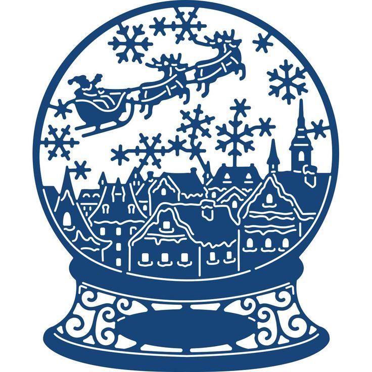 Tattered Lace Christmas Eve Snow Globe Die 8.8 X 10.7 Cm | Hobbycraft