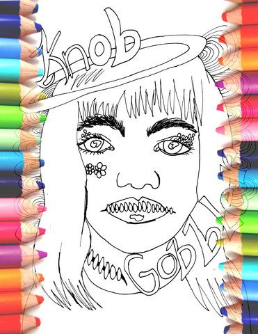 Dirty Sweary Coloring Page