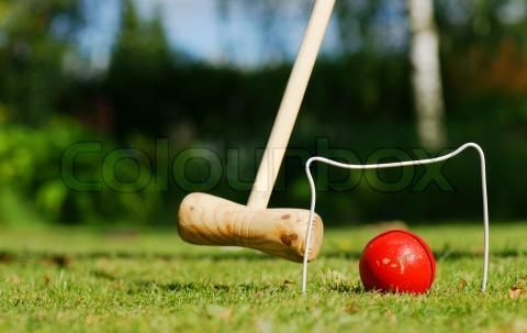 Stock image of 'A game of croquet in the garden'
