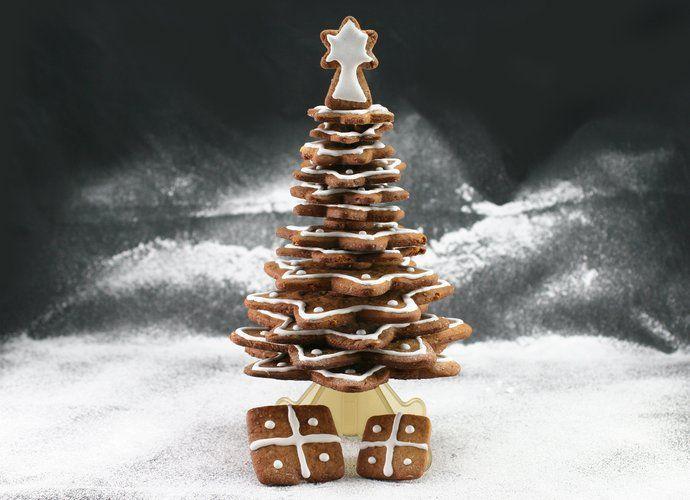 Árbol de Navidad con galletas de jengibre para #Mycook http://www.mycook.es/cocina/receta/arbol-de-navidad-con-galletas-de-jengibre