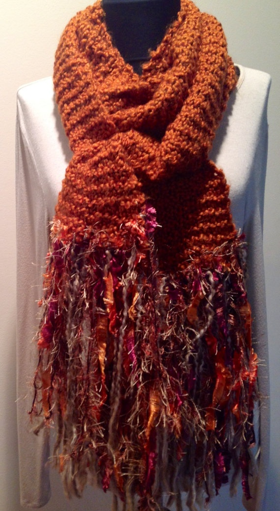 """Fun and Funky knitted scarves Each one different by """"Mary & Me"""""""
