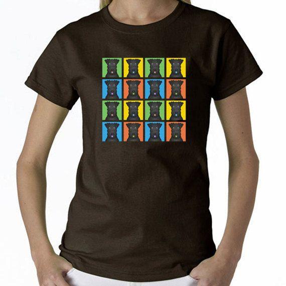 Kerry Blue Terrier Cartoon Pop-Art T-Shirt Tee by prettycooltees