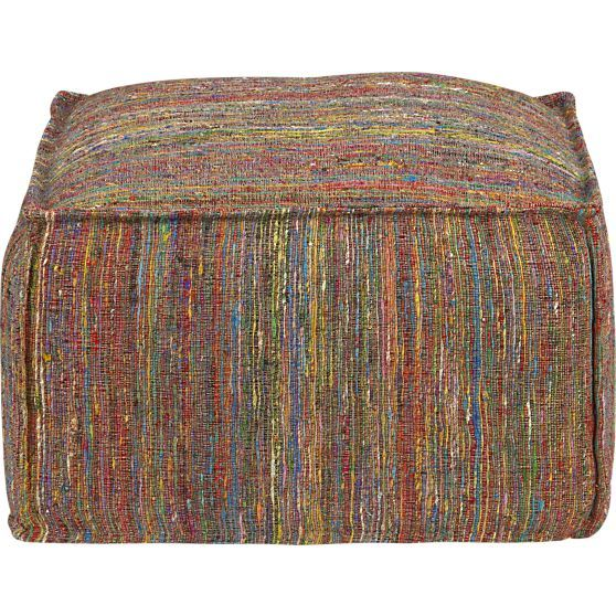 Zuni Pouf in Ottomans, Cubes | Crate and Barrel