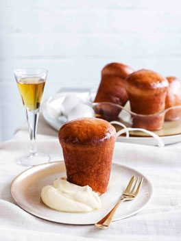 Rum baba, or as the French would say, Baba au Rhum. I've loved these rum - soaked suckers since I was a kid -- hmmm.... the writing was already on the wall back then!  : )   A whole box of beautiful Italian pastries and these scream my name. So plain, yet so sinful. Just yummy!