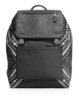 COACH Bandanna Patchwork Manhattan Backpack. #coach #bags #leather #lining #backpacks #